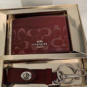 🍷Coach Boxed Card Case & Valet Key Set🍷